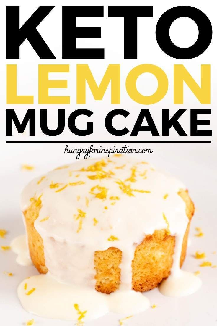 Easy Sugar Free Keto Lemon Mug Cake with only 3.1g net carbs per serving! Ready in only 5 minutes - the perfeckt keto snack , keto breakfast or keto dessert. #ketomugcake #lowcarbmugcake #mugcakes #lemoncake #ketodessert #ketosnacks #ketobreakfast #mugcake