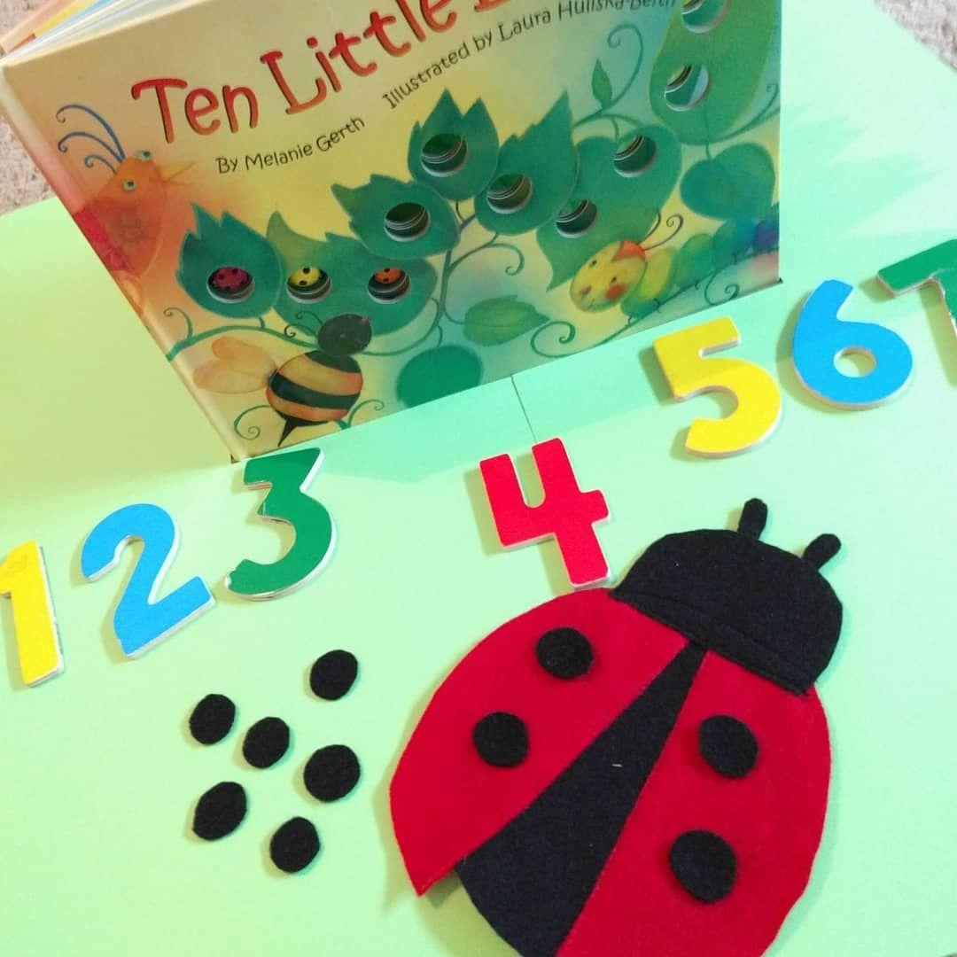 Ladybug Felt Activity For Mathsonmondays Using This