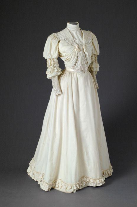 1900s Edwardian Gown . Antique Dress . Cotton . Vintage Bridal ...