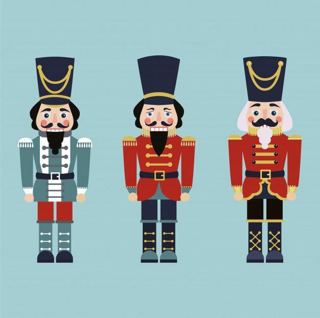 Set of nutcrackers. Premium Vector | Free Vector #Freepik #vector #freechristmas #freekids #freecartoon #freeface