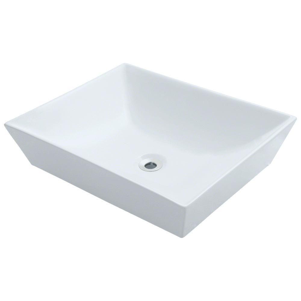 Mr Direct Porcelain Vessel Sink In White In 2020 Vessel Sink
