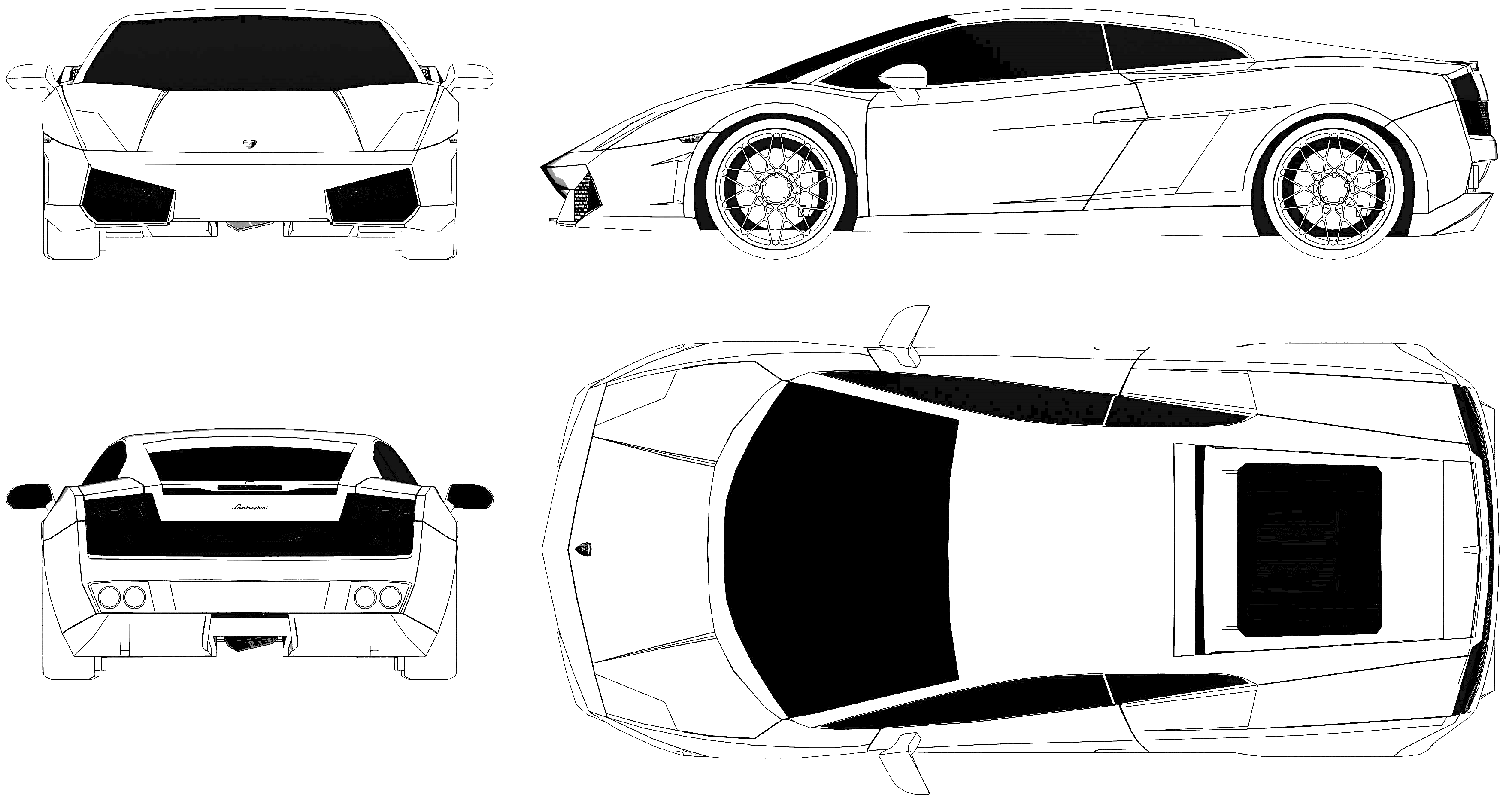 Lamborghini gallardo blueprint car templates pinterest de lamborghini gallardo blueprint malvernweather Images