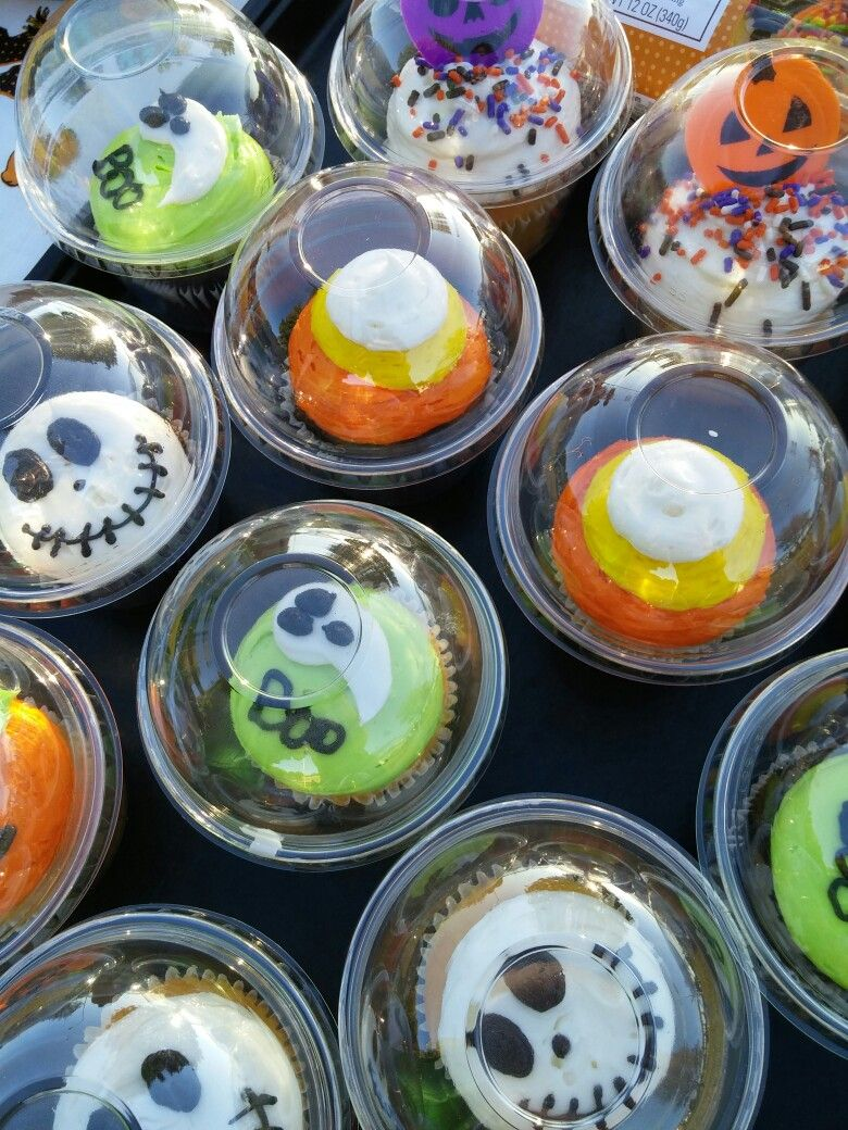 Our bakery made cute Halloween cupcakes for a community