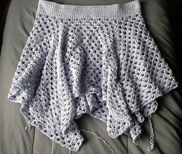 Crochet granny skirt free pattern by High Strung Designs | Crochet ...