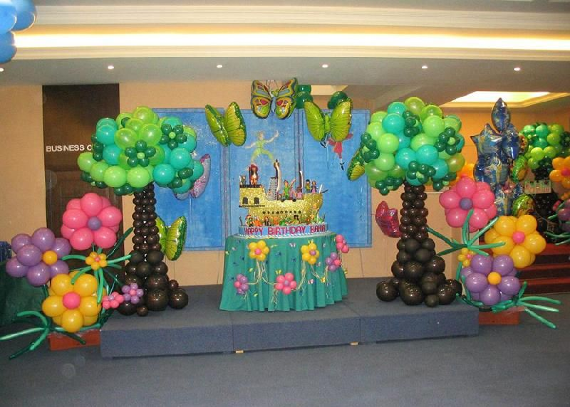 Birthday dance party decoration ideas birthday party for Balloon decoration on wall for birthday