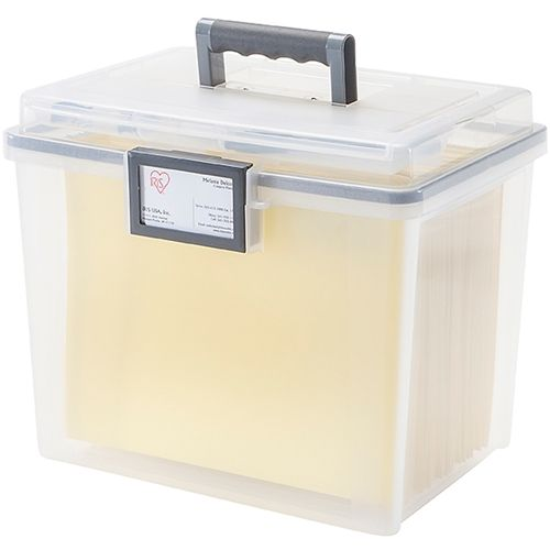 the hanging file box is an airtight portable file box that keeps your - Hanging File Box