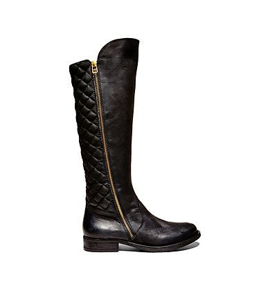 Black Quilted Riding Boots | Steve Madden Northsde