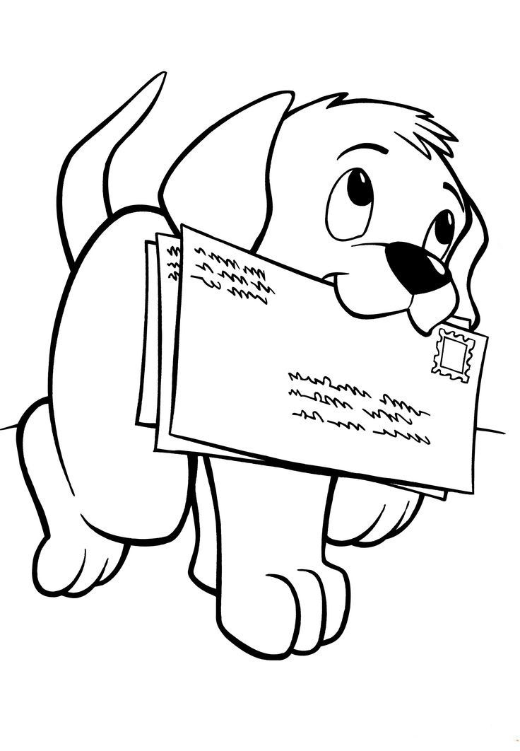 Coloring Page | Coloring Pages | Coloring pages, Puppy coloring ...