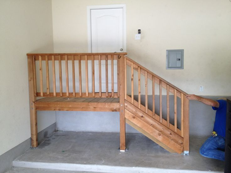 Garage Steps With Landing Google Search Garage Steps Garage | Basement Stairs In Garage | Deck | Outside | Back | Epoxy Coating | Easy Diy