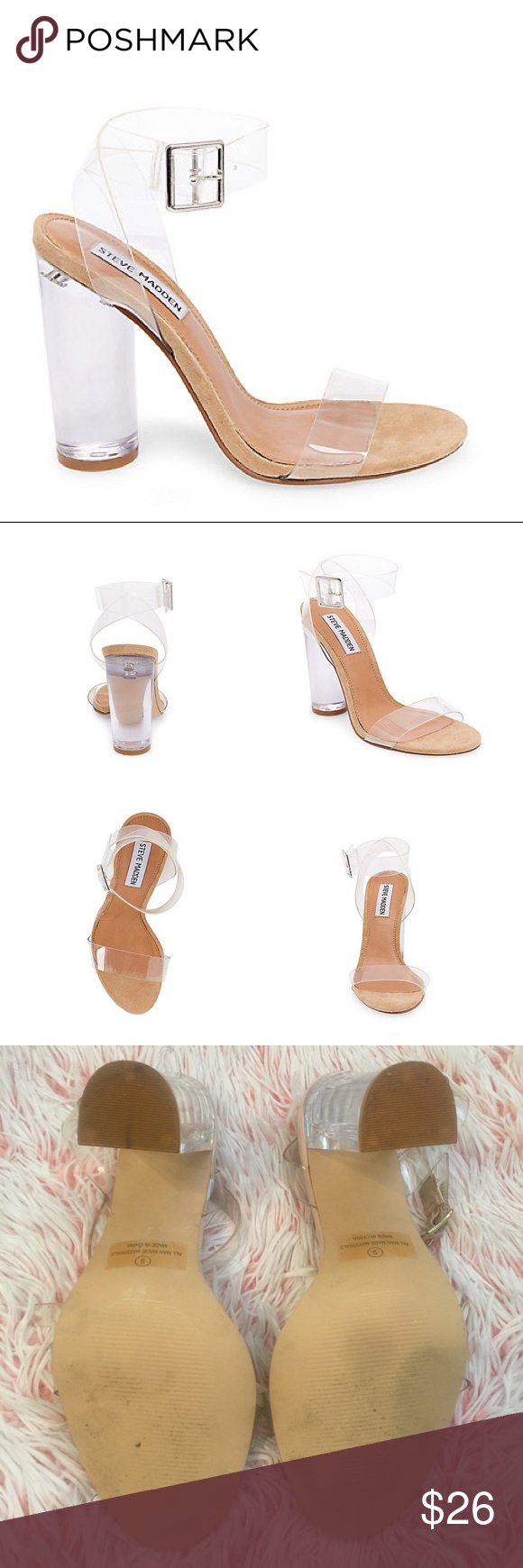 3f6470fc4fc Clear Nude Sandal Heels Very similar to the Steve Madden Style, but ...