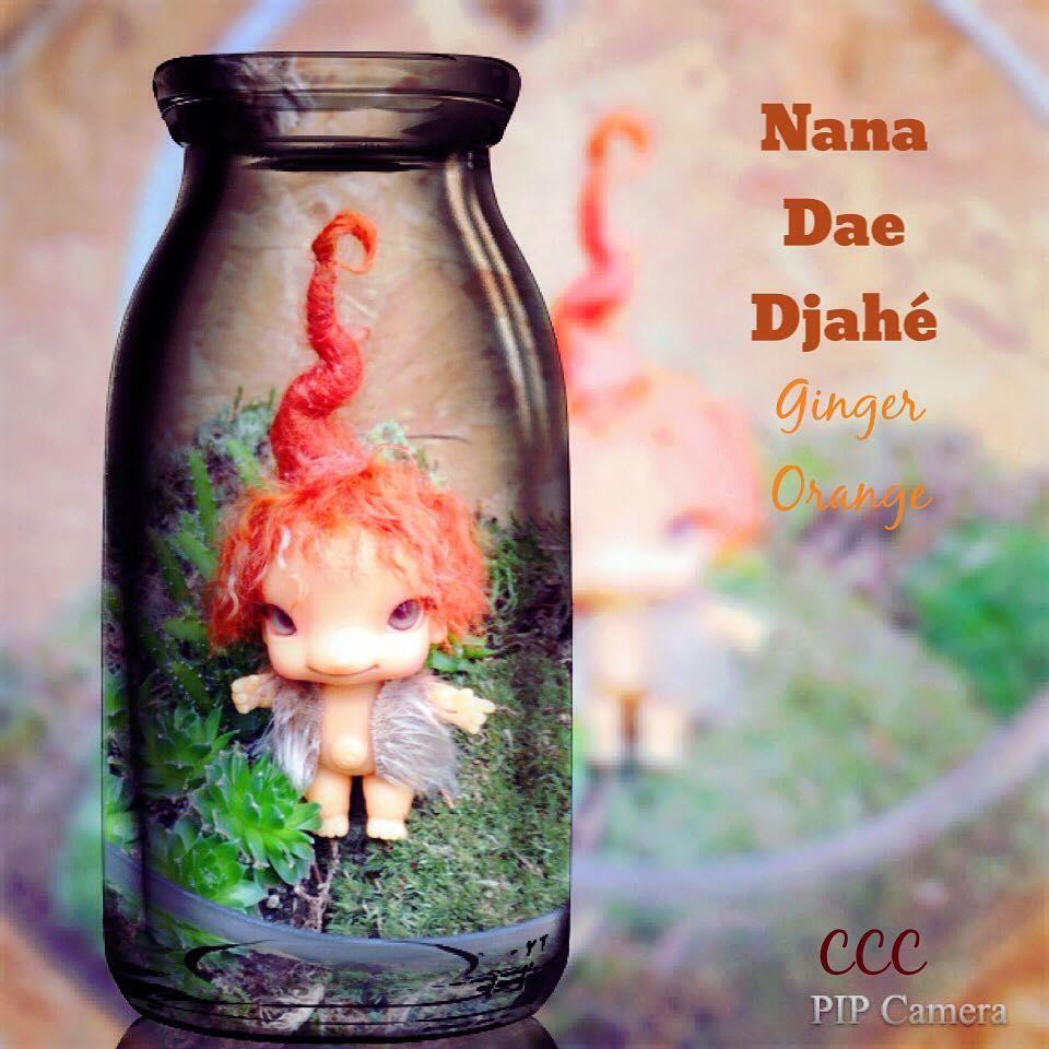 Tiny Ginger Root Gnome ❤ ❤ #CharlesCreatureCabinet #nanadaedjahé #gingerrootgnome #6cm #nana #ginger #CharlesGrimbergStephan #mariepatterson #WeeDollyWears #balljointeddoll #Tiny #ccc