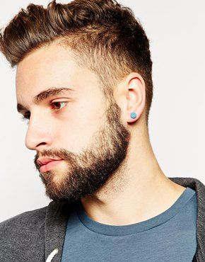 men with earrings google search boucles d 39 oreille masculins pinterest id es de piercing. Black Bedroom Furniture Sets. Home Design Ideas