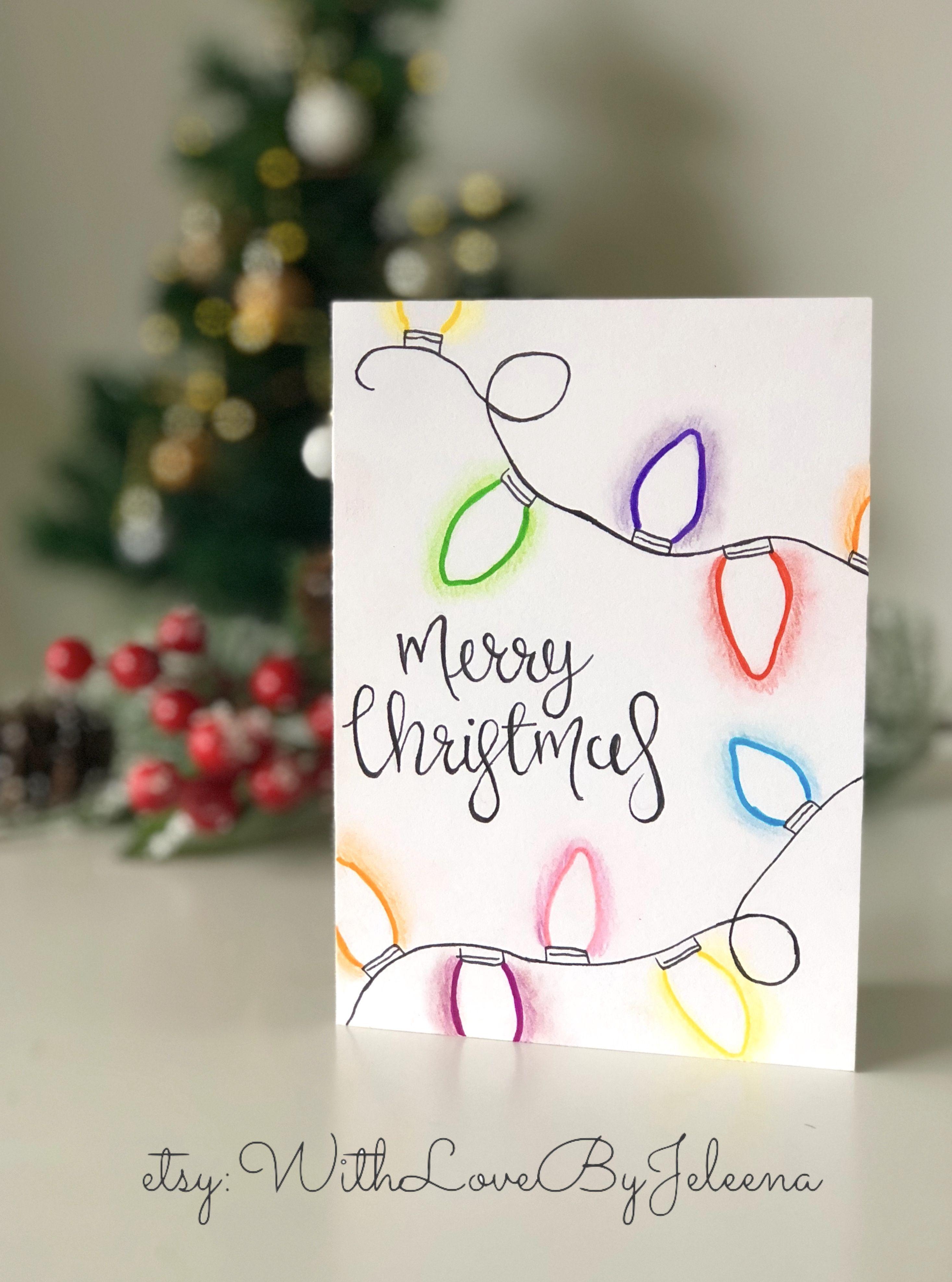 WithLoveByJeleena on Etsy Handmade Christmas cards