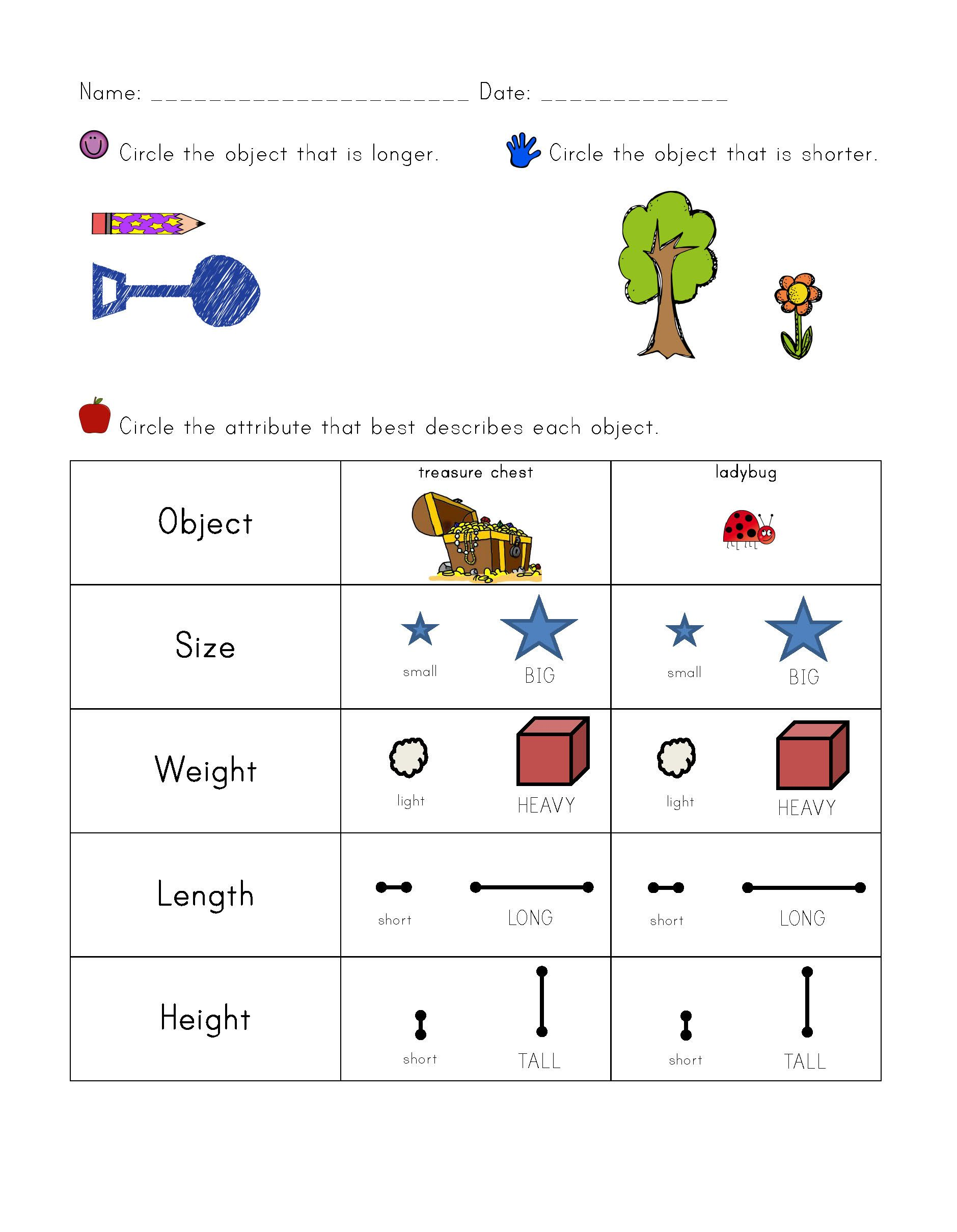 Sorting Materials Worksheet