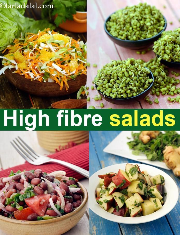 High Fibre salad recipes, Fibre Rich Indian salad recipes