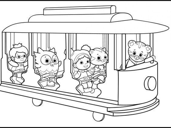 daniel tiger coloring sheets | birthday | Pinterest