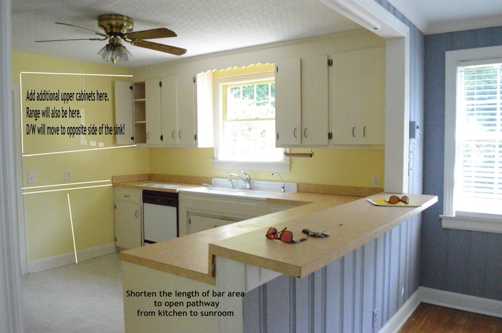 kitchen before 50s ranch home remodel renovation - Ranch Home Remodeling Plans