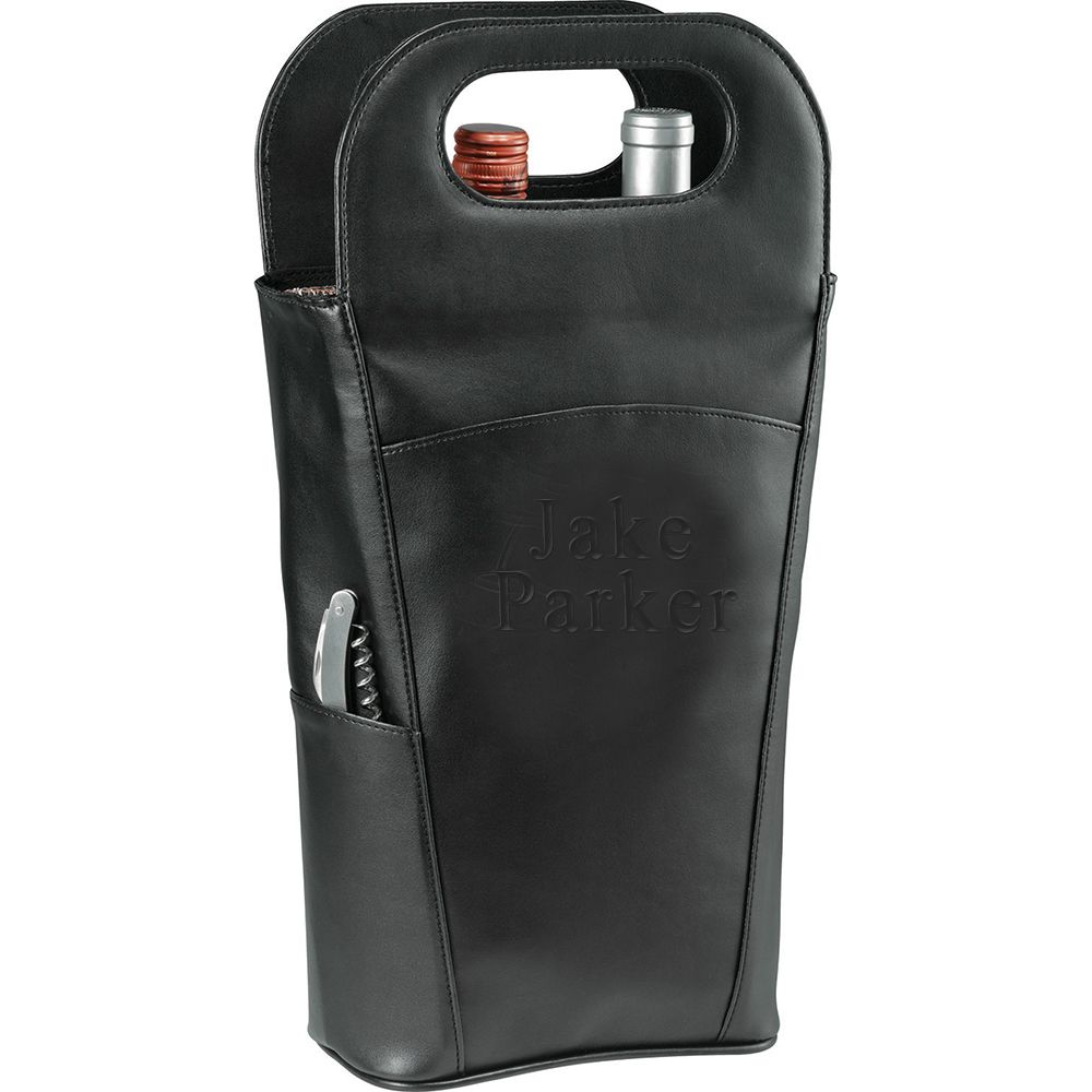Buy online personalized double insulated wine bottle tote