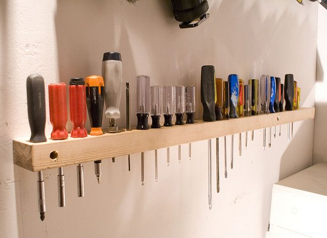 2x4 Screwdriver Holder | Shop ideas, Organizations and ...