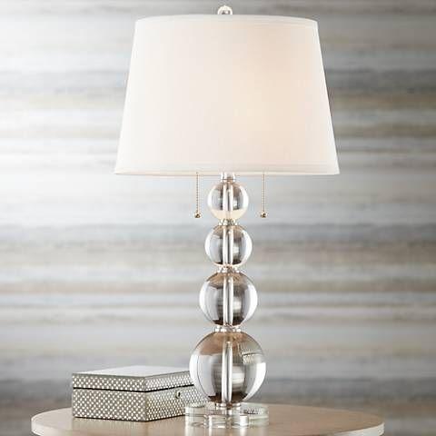 Vienna Full Spectrum Stacked Crystal Spheres Table Lamp 60198 Lamps Plus Lamp Crystal Table Lamps Sphere Lamp
