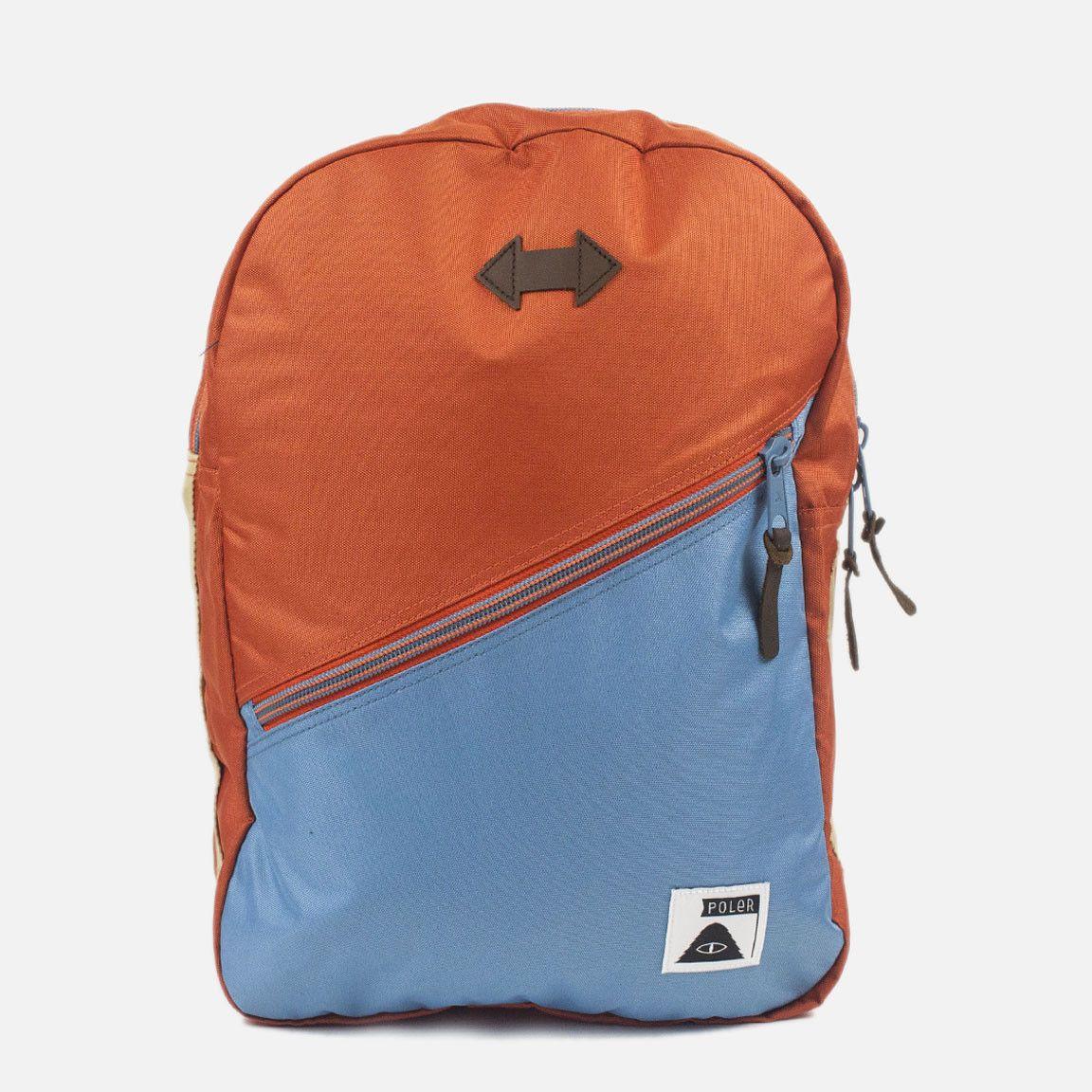 Poler Stuff Drifter Backpack - Burnt Orange True Blue  b5d8e62e06fbf