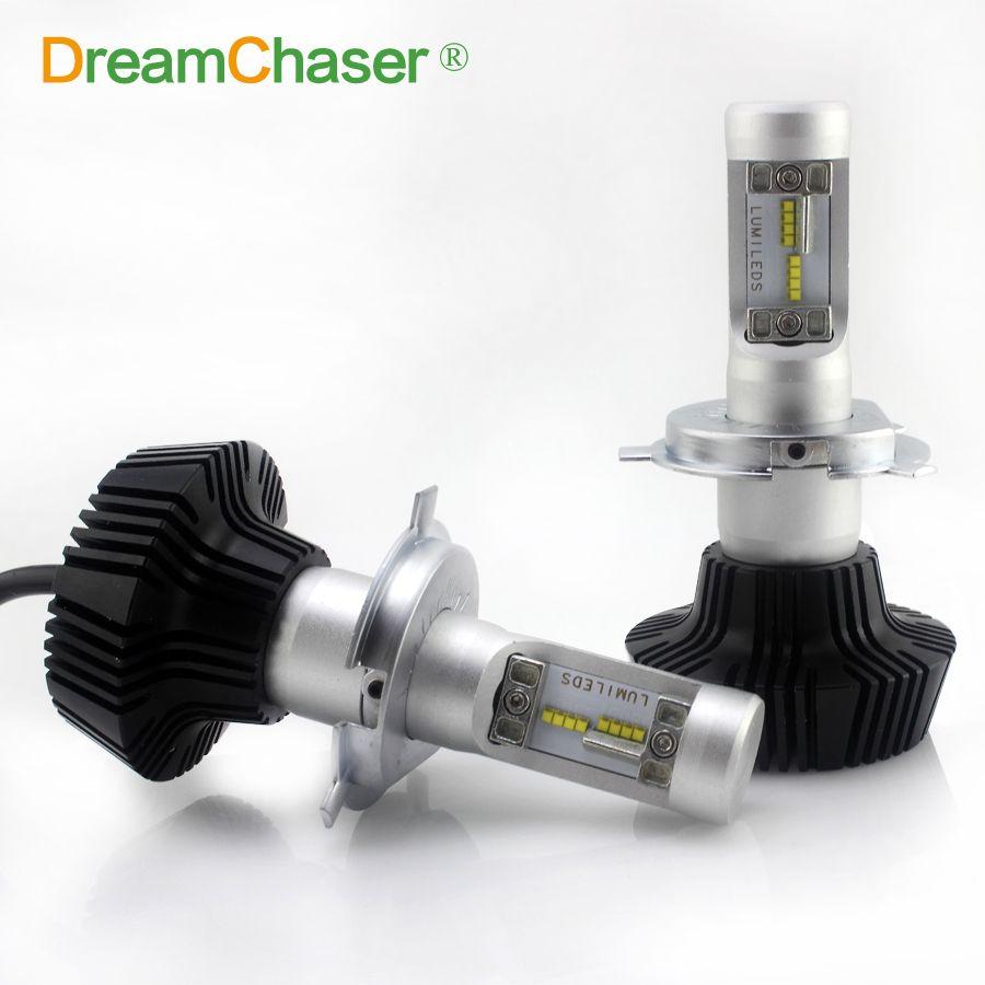 Dream Chaser 1set H4 H7 Led 30w For Philips Chip Car Led Headlight Kit High Low Dual Beam 6000k Super White Drl Fog Light Bul Car Led Led Headlights Car Lights