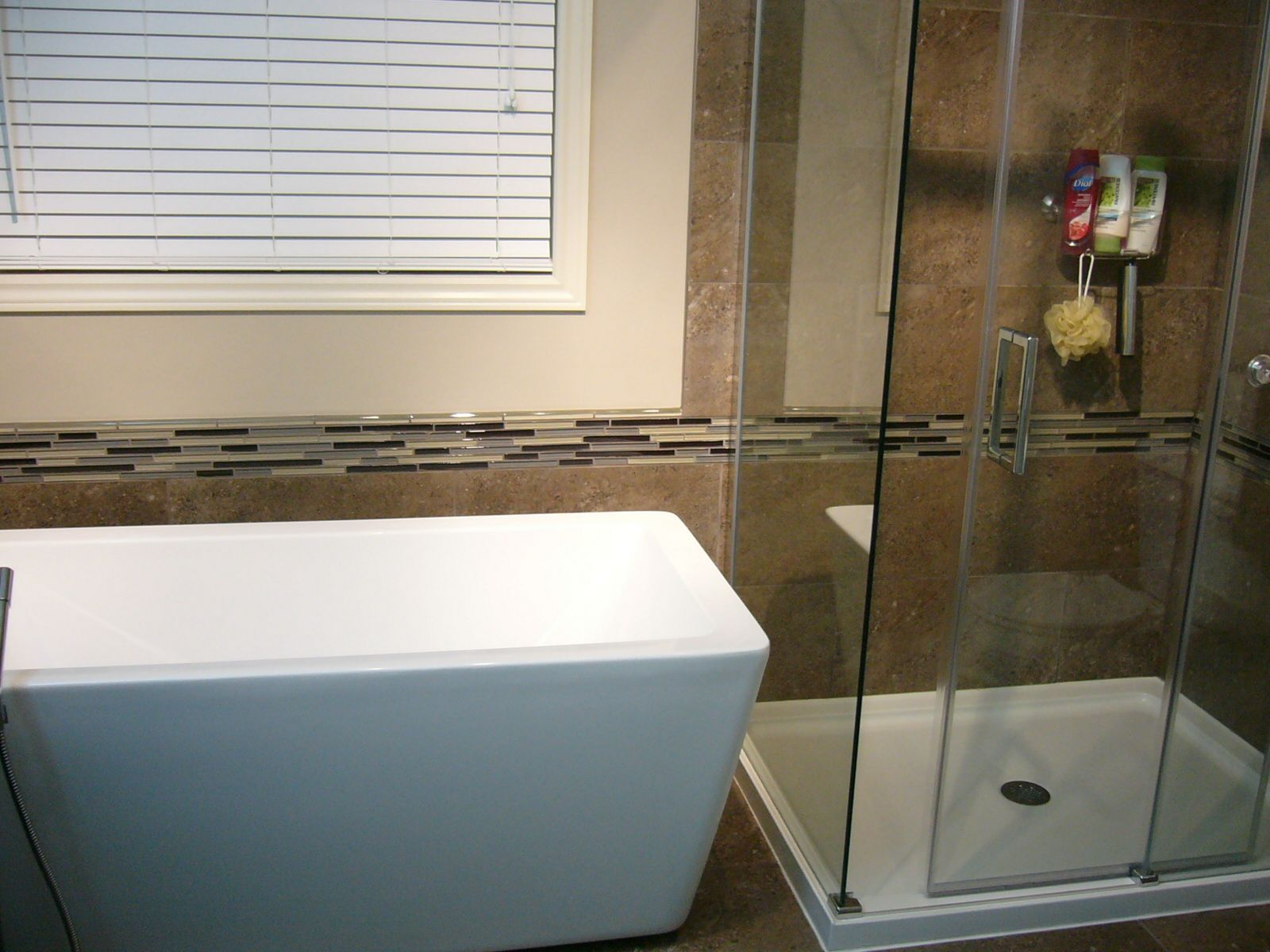 New free standing tub and glass shower enclosure | Things I love ...