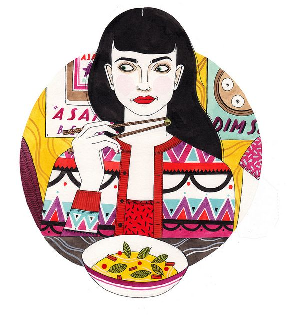 food envy by Laura Callaghan. I'm loving this womyn's illustrations.