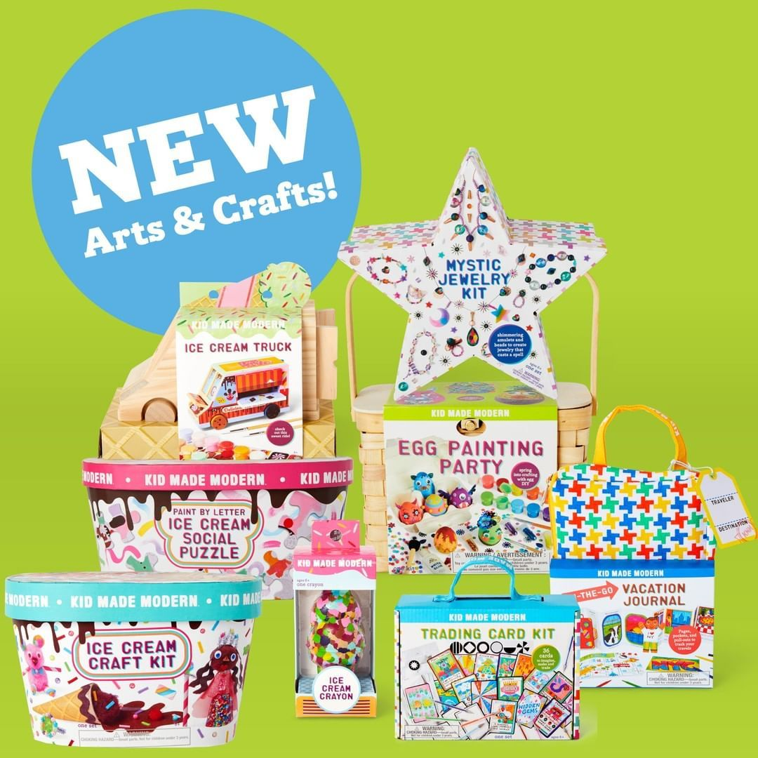 Hooray Our New Spring Line Is Officially Launched From Ice Cream Inspired Craft Kits To An On The Go Rainy Day Crafts Arts And Crafts Kits Diy Summer Crafts
