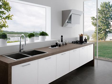Modern Kitchens Without Upper Cabinets by Treo Upper cabinets