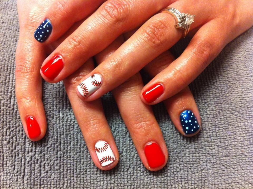 STL Cardinal nails! Done by Mara Lazzarini at The Nail Room in ...