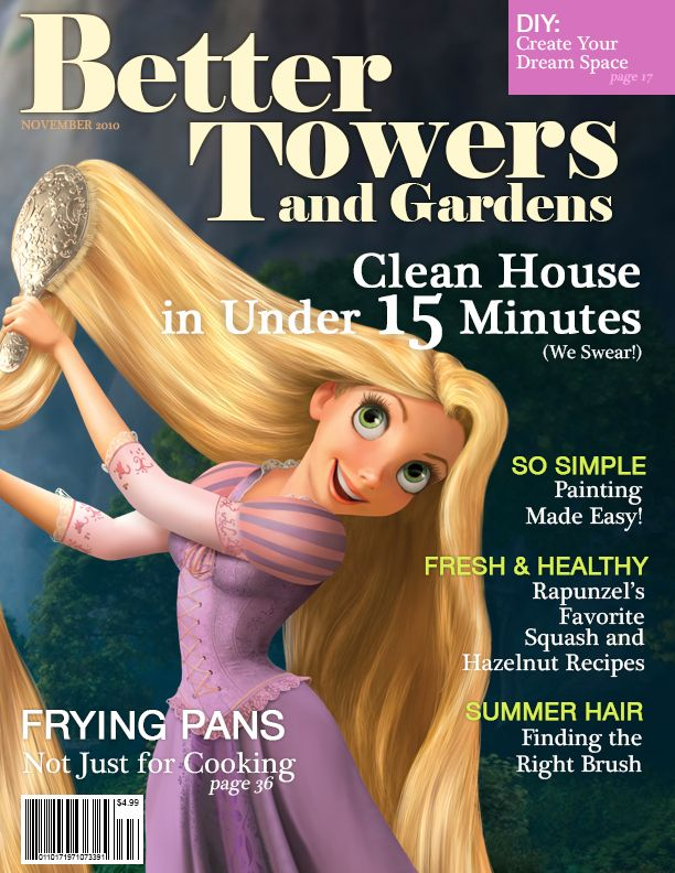 What If Disney Princesses Were Magazine Cover Models? #humor #funny #jokes #lol #hilarious