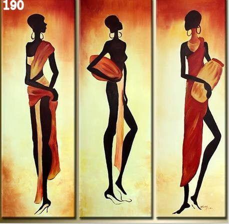 African women 3 piece wall art | free shipping & framed | Art decor ...