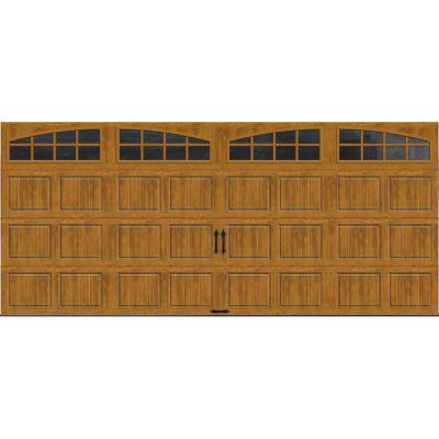 Clopay Gallery Collection 16 Ft X 7 Ft 6 5 R Value Insulated Ultra Grain Medium Garage Door With Arch Window Garage Doors Arched Windows Garage Door Types