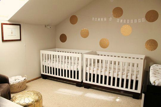 Bedroom for boy and girl twins twins nursery pinterest for Baby twin bedroom ideas