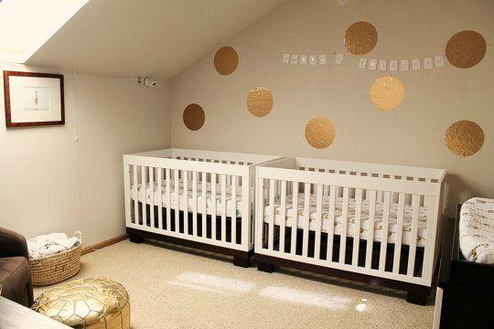 Dormitorio para gemelos niño y niña Gemelo, Bebés gemelos y Bebes