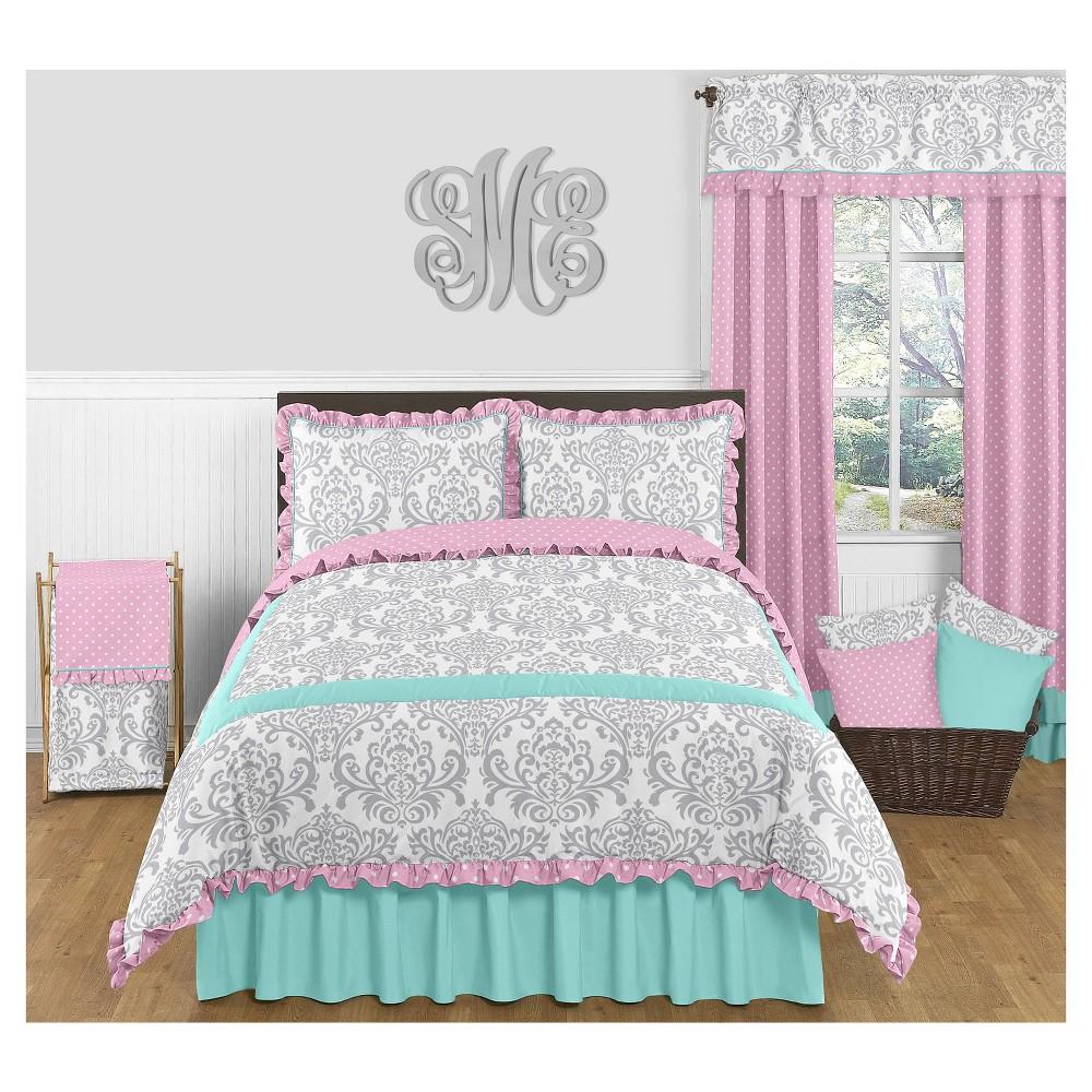Turquoise & Pink Skylar Comforter Set (Full/Queen) Sweet