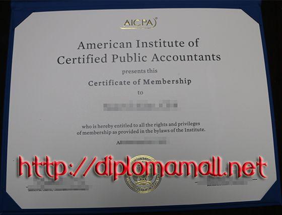 AICPA Certificate buy degree, buy masters degree, buy bachelor - sample membership certificate