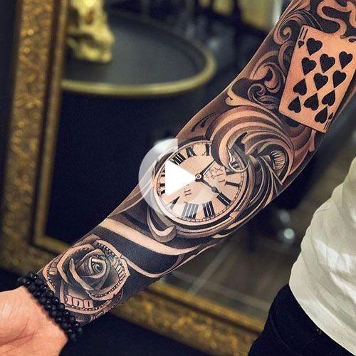 Cool Full Arm Sleeve Tattoo Ideas For Guys - Best Sleeve Tattoos For Men: Cool Full Sleeve Tattoo Ideas and Designs #tattoos #tattoosforguys #tattoosformen #tattooideas #tattoodesigns #sleeve #fullsleeve #armtattoo #tattooideas #smalltattoos #tattoodesigns