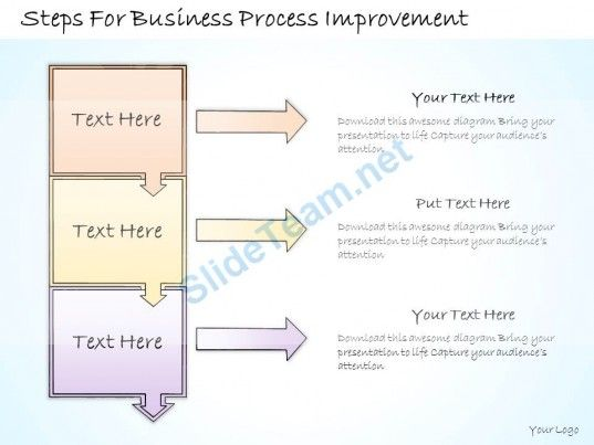 1113 business ppt diagram steps for business process improvement, Modern powerpoint