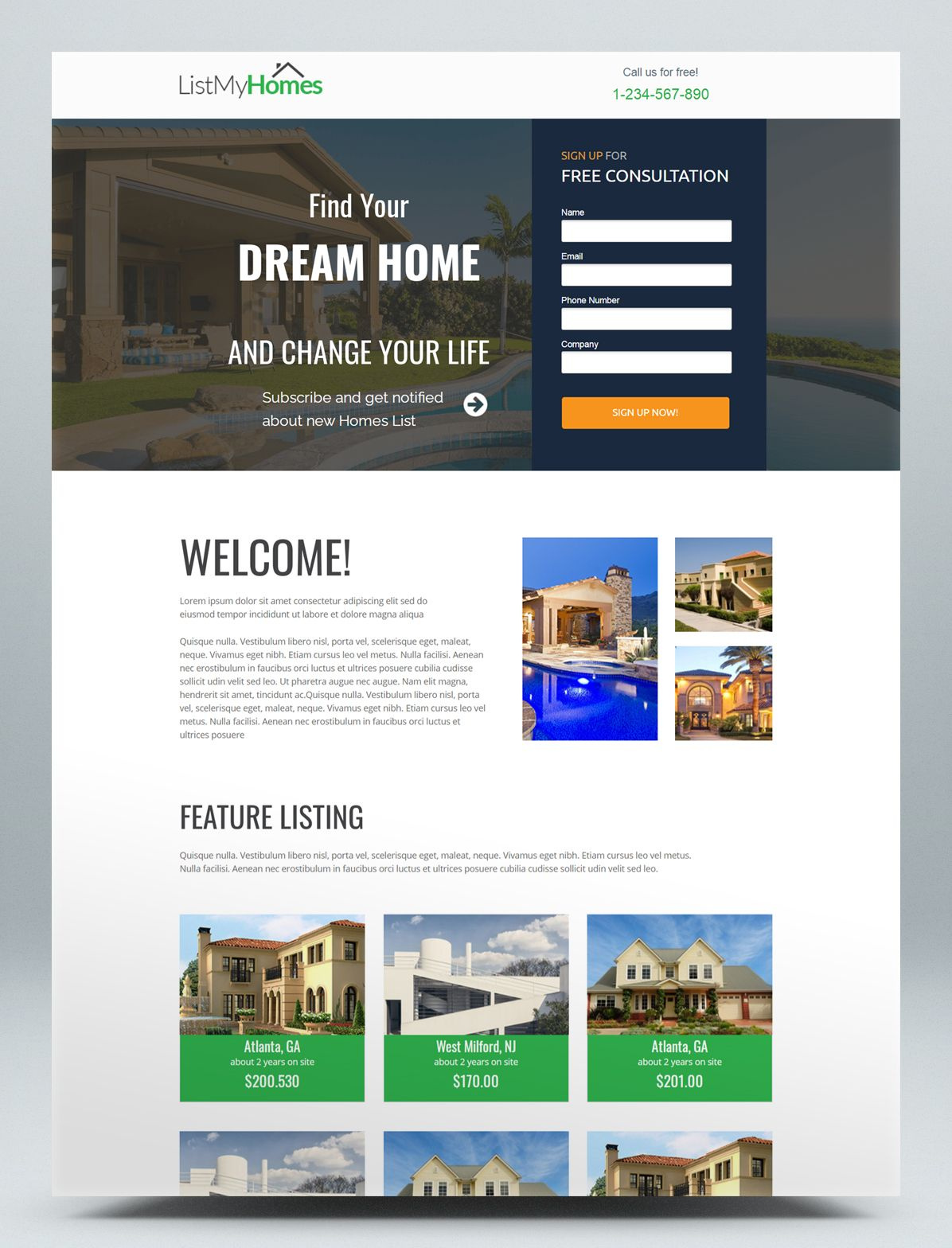 Homes Real Estate Unbounce Landing Page Template Real Estate Landing Pages Real Estate Web Design Landing Page