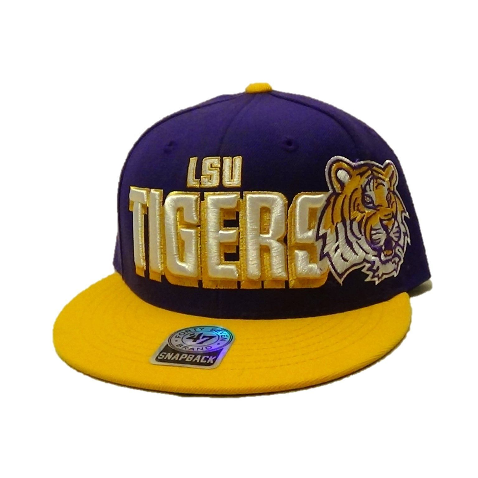 LSU Tigers 47 Brand Large Text Snapback Hat