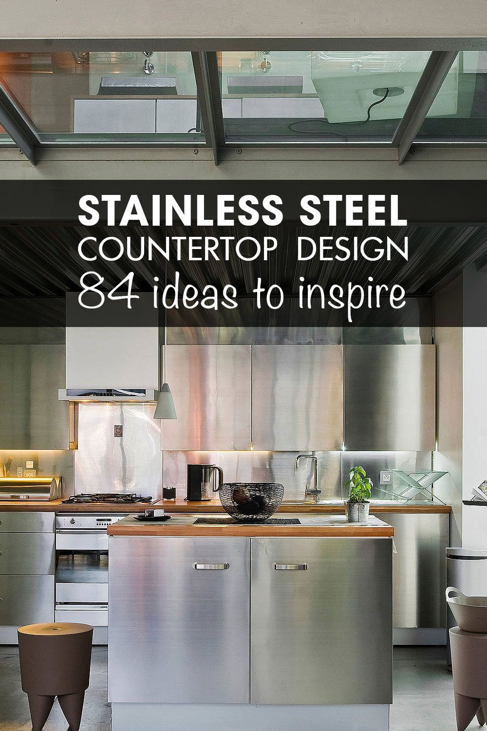 Stainless Steel Countertop Industrial Design Stainless Steel
