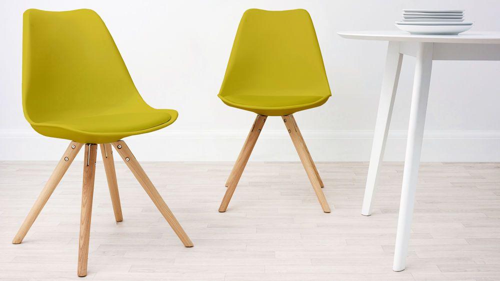 Modern Cushion Yellow Dining Chair