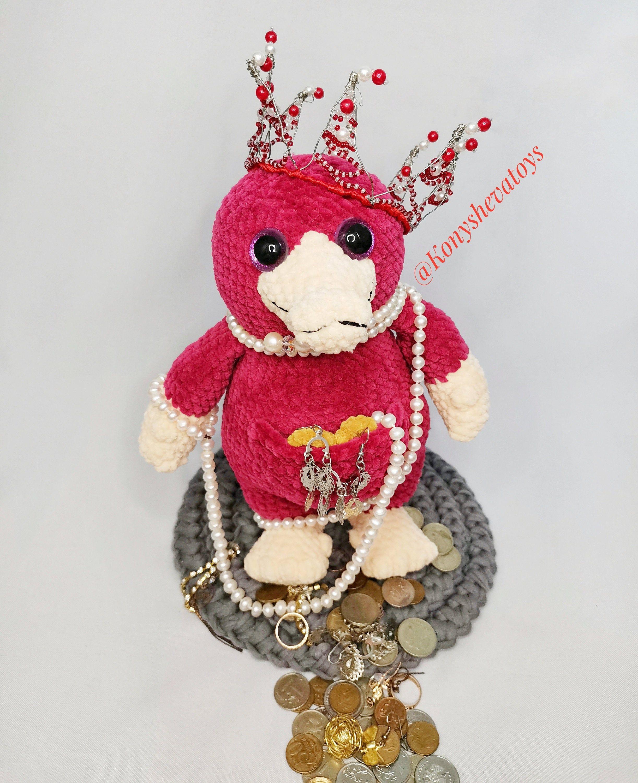 Toy niffler crochet pattern, knitted soft niffler,