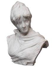 Ferdinando Vichi (1875-1945) Italian Marble Veiled Female Bust Sculpture