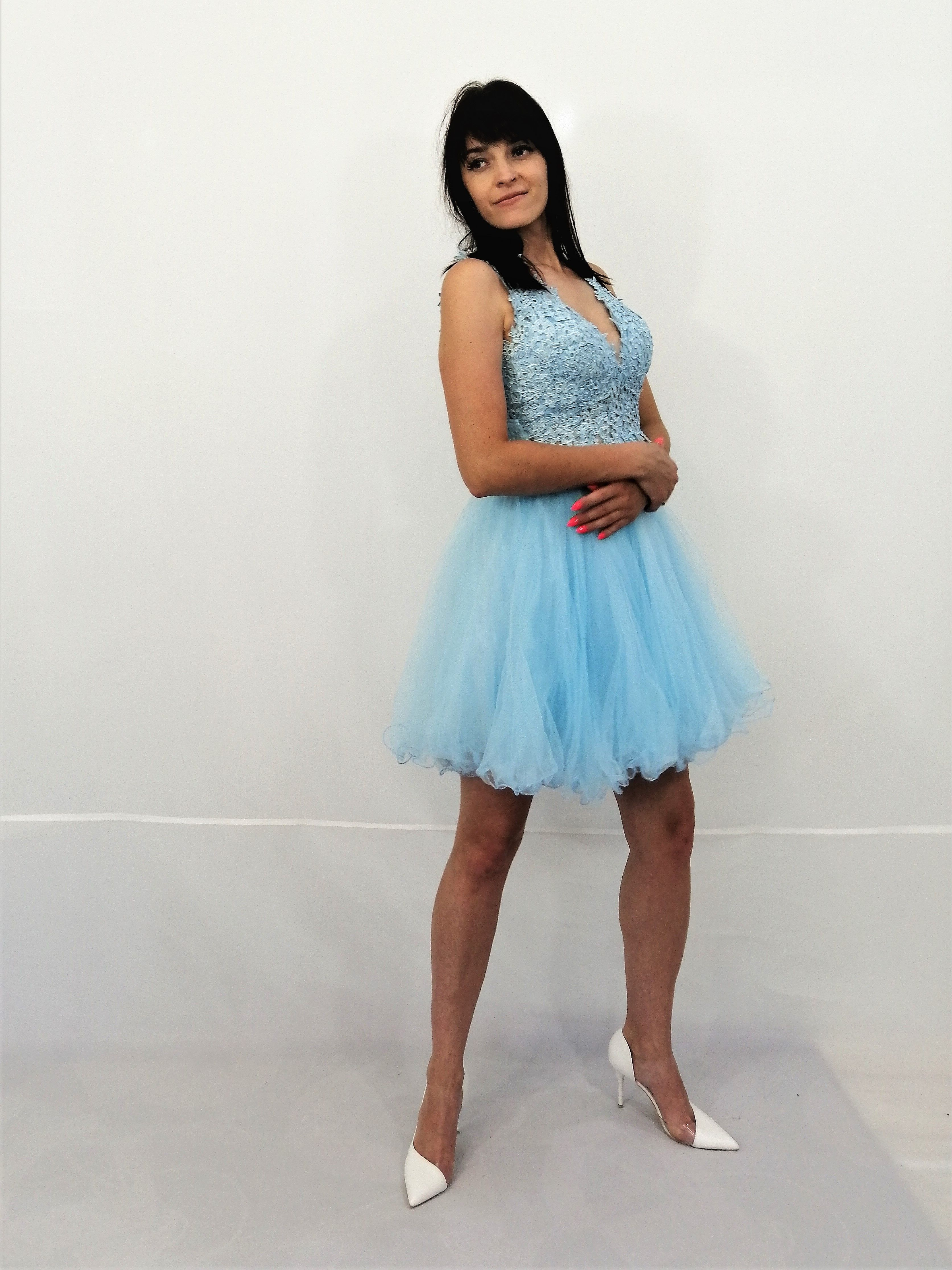 Blekitna Sukienka Na Wesele Evening Dresses Dresses Fashion