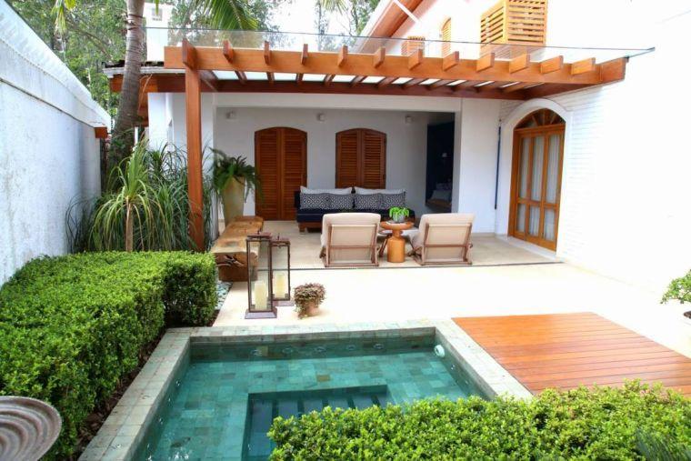 aménagement de petit jardin avec terrasse et piscine | ekhom ...