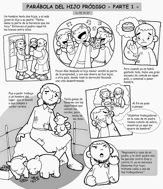 La Catequesis (El blog de Sandra): Cómic Evangelio Cuarto Domingo de ...