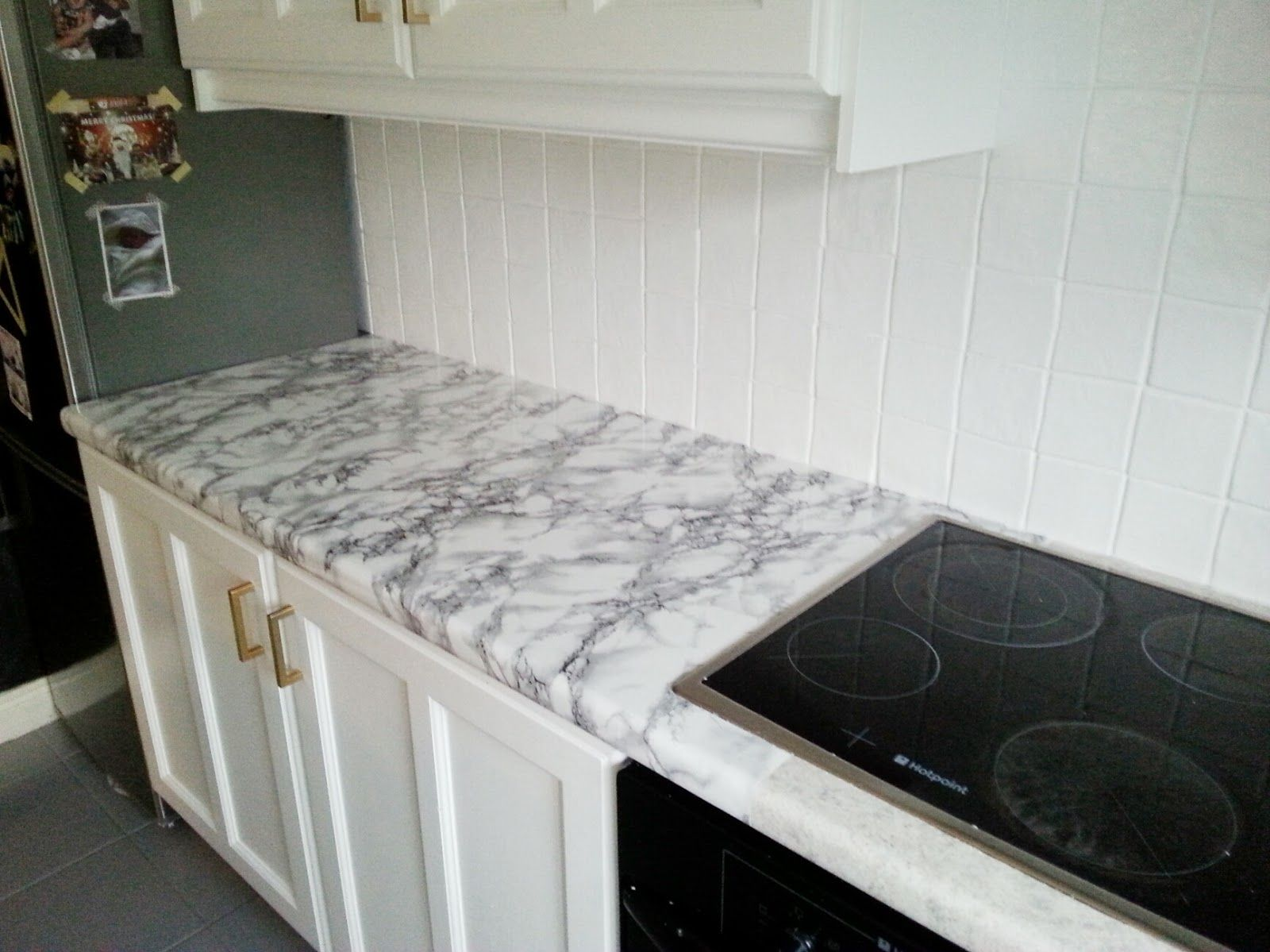 Diy Super Cheap Easy Marble Look Counters Done With Contact Paper